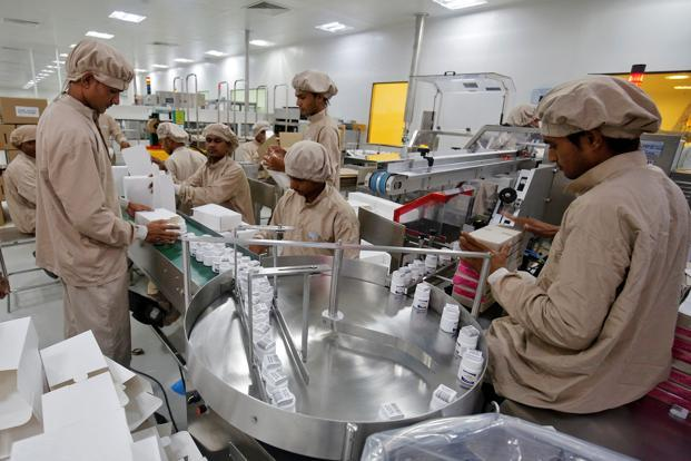 A representational image. Workers pack medicine bottles inside Alembic Pharmaceutical Ltd's plant in Halol, in Gujarat. Photo: Reuters