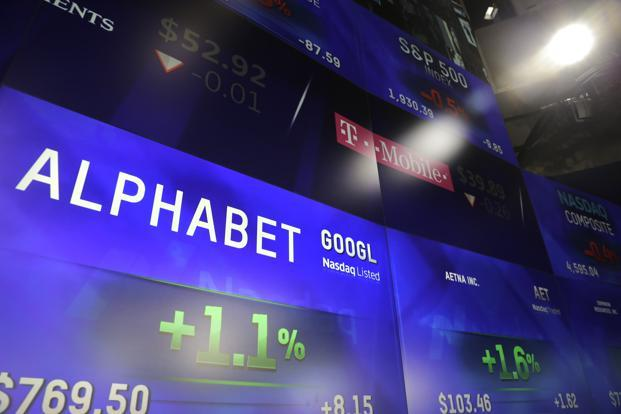 Alphabet shares slipped slightly in after-market trades that followed release of the earnings report, evidently on investor concerns about growing costs. Photo: AP