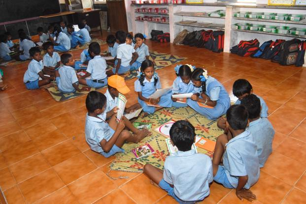 File photo. The world's first development impact bond called Educate Girls consisted of a three-year intervention focusing on improved learning outcomes and enrolment numbers for out-of-school girls. Photo: Mint