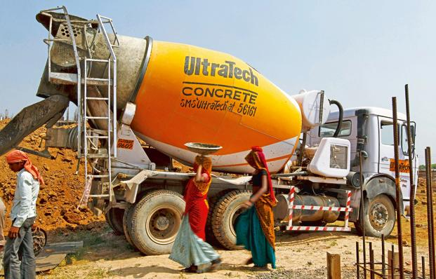 UltraTech Cement's revenue from operations rose 29% to Rs9,421 crore. Photo: Mint