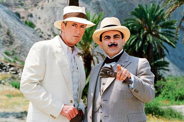 David Suchet as Hercule Poirot (right) and Hugh Fraser as Captain Hastings. Photo: Alamy