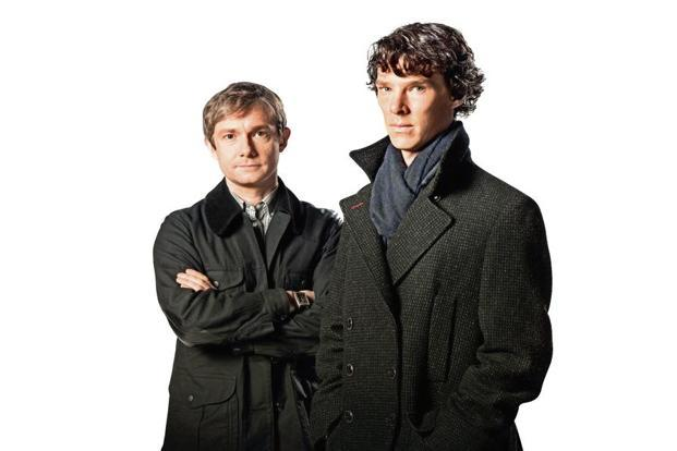 Benedict Cumberbatch (right) as Sherlock Holmes and Martin Freeman as Dr Watson