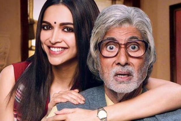 Deepika Padukone and Amitabh Bachchan in 'Piku' (2015).