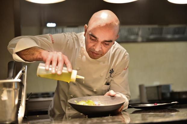 Chef Alfred Prasad at Omya. Photo: Priyanka Parashar/Mint