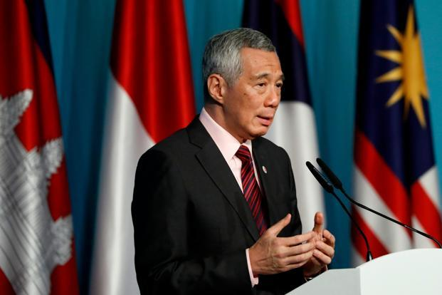 Singapore Prime Minister Lee Hsien Loong said regional economic growth was under threat because the political mood in many countries had turned against free trade. Photo: AP