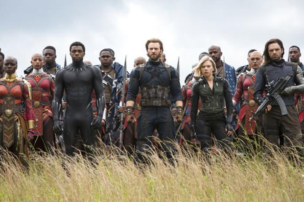 A still from 'Avengers: Infinity War'. Photo: AP