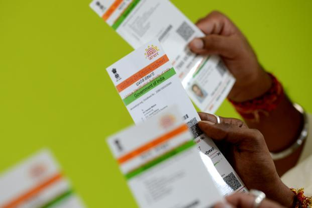Individuals eligible for enrolling in Aadhaar have to submit the number, or proof of application for Aadhaar enrolment, which should not be older than six months. Photo: Hemant Mishra/Mint