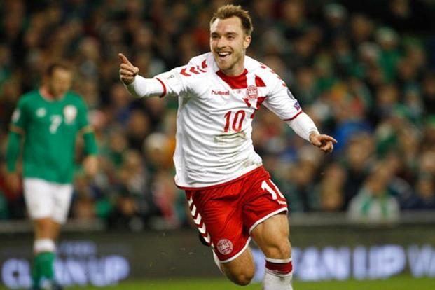 Christian Eriksen will be the source of creativity in the Denmark midfield. Photo: AP