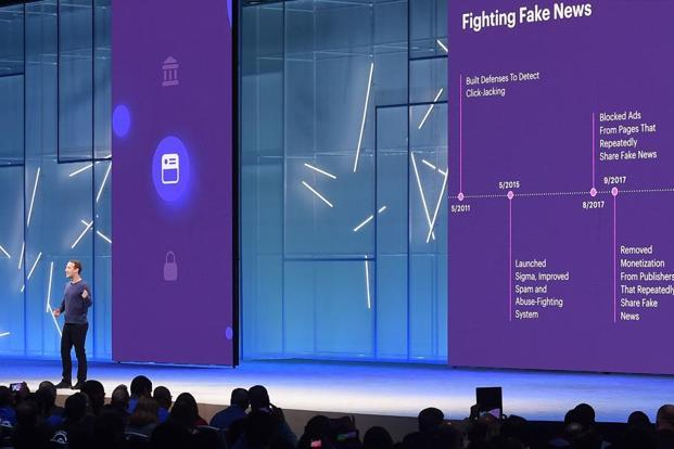 Facebook CEO Mark Zuckerberg speaks during the annual F8 summit at the San Jose McEnery Convention Center in San Jose, California on 1 May 2018. Photo: AFP