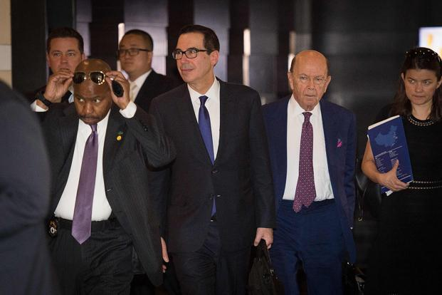 "US Treasury secretary Steven Mnuchin said the US and China are having a ""very good conversation,"" as a second day of negotiations over the two nations' trading relationship got under way in Beijing. Photo: AFP"