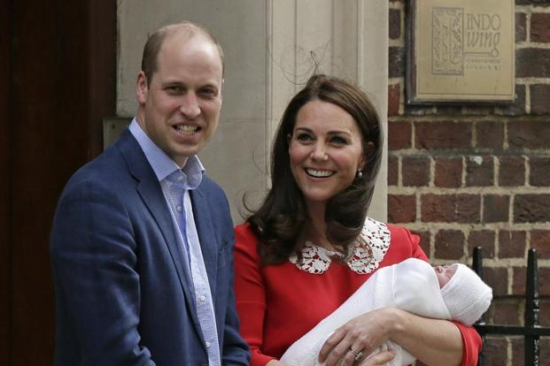 The infant son of the Duke and Duchess of Cambridge has been named Louis Arthur Charles. Photo: AP