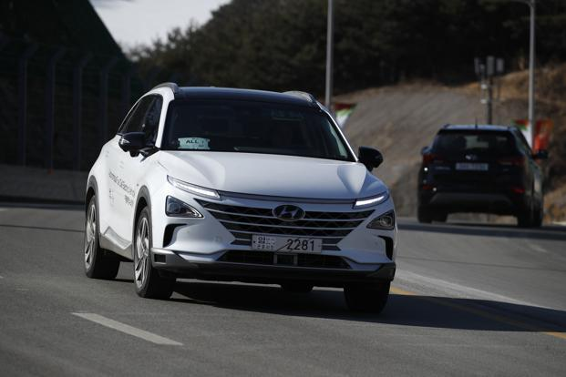 Vehicles sold under the Ioniq brand can run more than 100km  on a single charge. Photo: AP