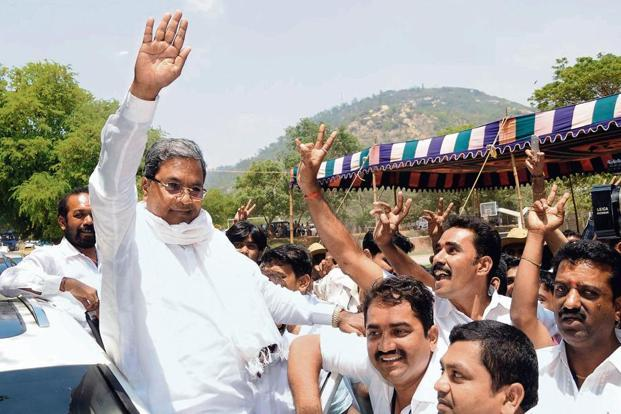 Had Siddaramaiah stayed the course with the 'Karnataka — No.1 State' track, he would have headed for victory, even if an apathetic population might scarcely have agreed with his claims of achievement. Photo: AP