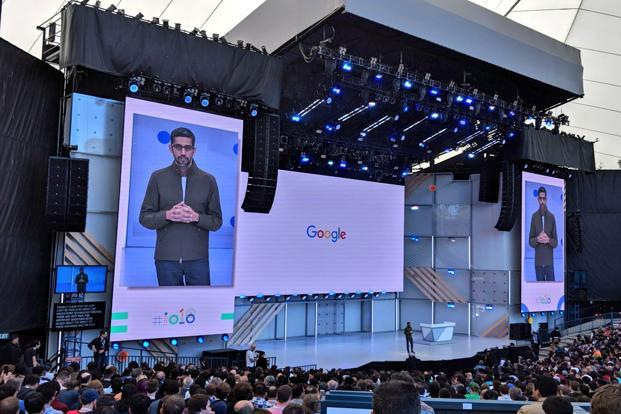 Google CEO Sundar Pichai at Google I/O 2018. Photo: AP