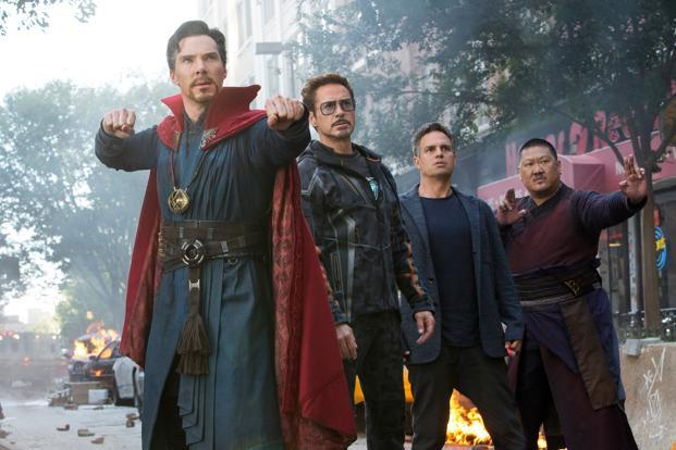 The new Avengers instalment beat Black Panther to rank only behind Star Wars: The Force Awakens for the biggest second weekend in theatres. Photo: AP