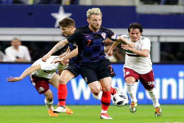 Ivan Rakitic (No.7) has shown himself capable of playing different midfield roles and will be a key player for Croatia. Photo: AP