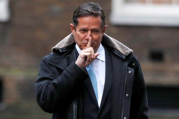 Barclays' CEO Jes Staley arrives at 10 Downing Street in London on Friday. Photo: Reuters