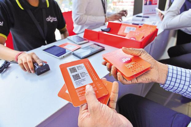 Reliance Jio on Thursday unveiled a new postpaid plan that offers unlimited domestic voice calls and 25 GB of data, as well as international calling at Rs0.50 per minute, for Rs199 a month. Photo: Aniruddha Chowdhury/Mint