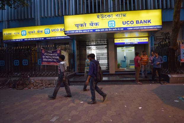 Stock of UCO Bank closed 1.60% up at Rs19.10 on BSE. Photo: Indranil Bhoumik/Mint