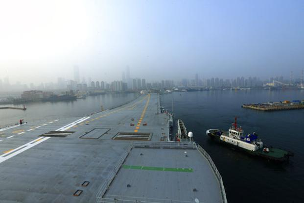 Chinas first home-built aircraft carrier begins sea trials