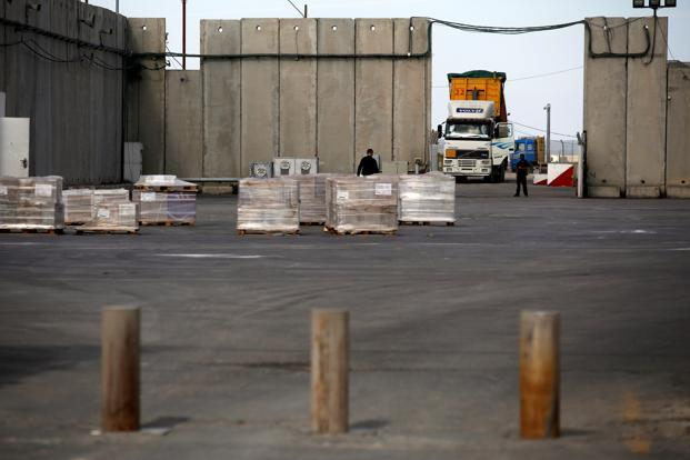 A file photo of  Kerem Shalom border crossing with the Gaza Strip. Photo: Reuters