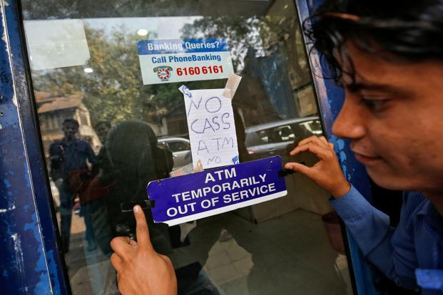 Around 15% of the ATMs were non-functional in some weeks of April and early this month but this has not been a nationwide phenomenon. Photo: Reuters
