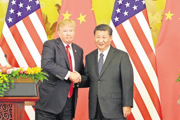 US President Donald Trump (left) and China's Xi Jinping. Photo: Bloomberg