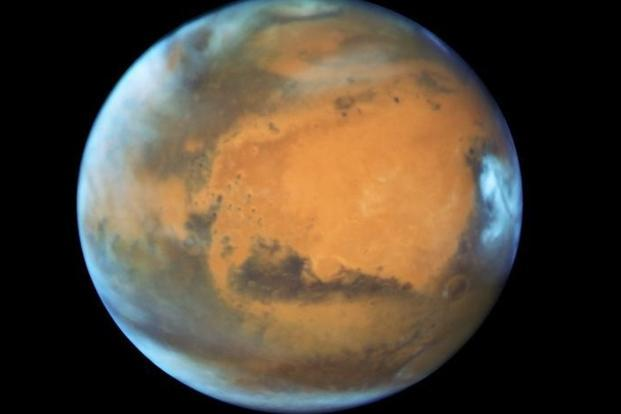 The planet Mars is shown in this NASA Hubble Space Telescope view taken on 12 May 2016 when it was 50 million miles from Earth