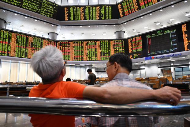 MSCI Emerging Markets fell 1.2% while MSCI World rose 1.6% in May so far. Photo: Reuters
