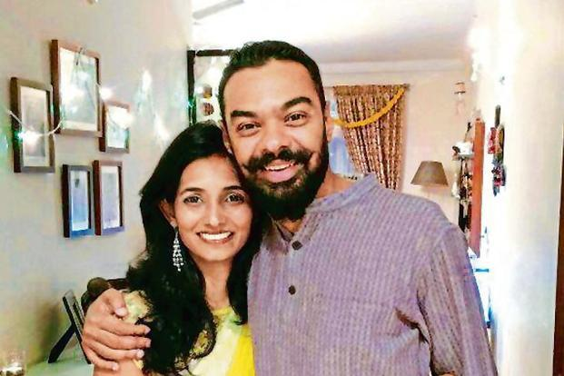 Supriya Ebenezer with her husband Vinay V. Kumar—both study in Europe.