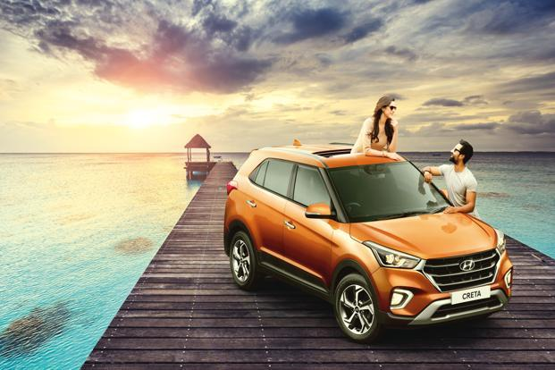 The petrol variants of the 2018 Hyundai Creta are priced between Rs9.43 lakh and Rs 13.59 lakh, while the diesel trims are tagged between Rs9.99 lakh and Rs15.03 lakh. Photo: Hyundai India website