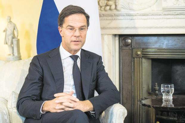 Netherlands would be an excellent location as the European headquarters for Indian companies, especially after Brexit, says Dutch Prime Minister Mark Rutte. Photo: Bloomberg
