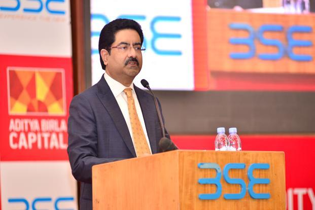A file photo of Kumar Mangalam Birla. Shares of Grasim Industries settled at Rs1,046.65 apiece on BSE, up 0.61% from the previous close. Photo: Aniruddha Chowdhury/Mint