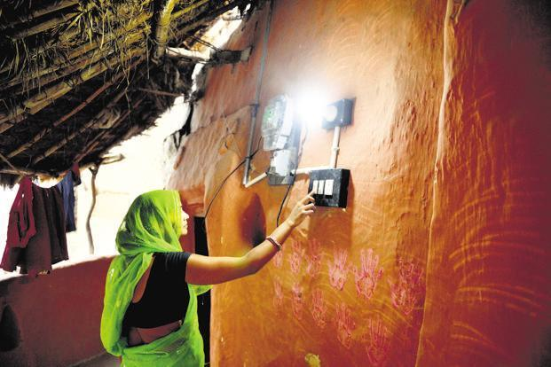 The rural electrification programme has also been a game changer with the government beating the deadline to provide electricity to all of India's 597,464 census villages last month. Photo: Pradeep Gaur/Mint