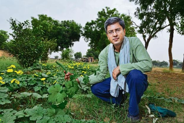 Organic Maati's Deepak Gupta has found a sustainable business model for his farm. Photo: Pradeep Gaur/Mint