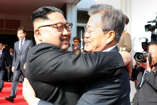 Moon Jae-in's surprise meeting with Kim Jong Un on Saturday shows he's willing to do what it takes to keep diplomacy on track and avoid a return to threats of war over North Korea's nuclear program. Photo: AFP
