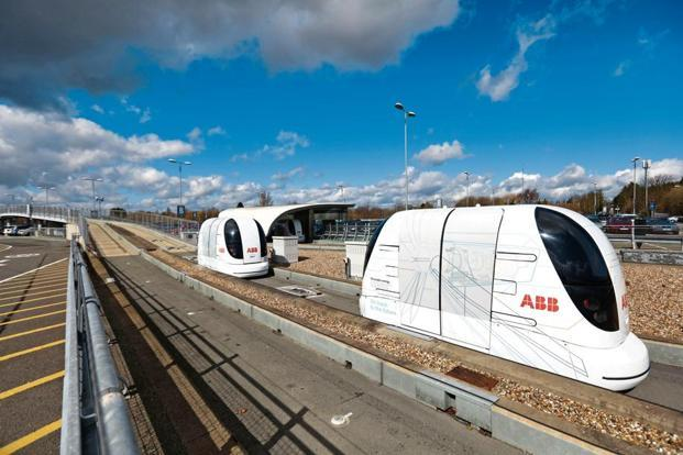 A file photo of pods. India's mobility business is steadily becoming smart and green, say government officials. Photo: Bloomberg