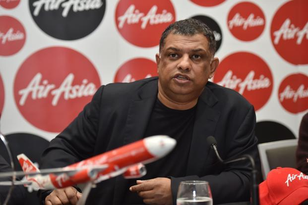 AirAsia CEO Tony Fernandes. Shares in Asia's biggest budget airline slid as much as 10.6% to a one-year low on Wednesday. Photo: AFP