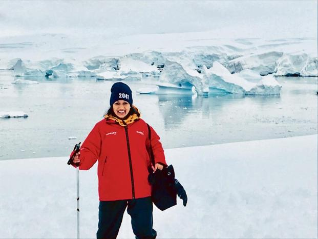 Surmai Kaushik went to Antarctica to raise awareness about climate change.