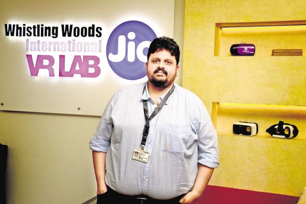 Chaitanya Chinchlikar, vice-president of business development at Whistling Woods which was founded by filmmaker Subhash Ghai. Photo: Abhijit Bhatlekar/Mint