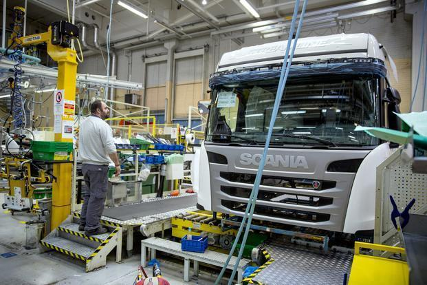 Scania AB is optimistic about the long-term prospects in the Indian market and hope that there will be an uptick in demand for environment friendly and high-performance buses. Photo: Bloomberg