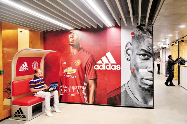 Adidas has partnered with social media platforms like Facebook, Snapchat and Instagram where fans will be able to create profile pictures with their favourite football players. Photo: Pradeep Gaur/Mint