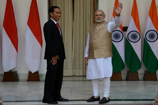 A joint statement issued after the talks between Modi and Indonesian President Joko Widodo said that the leaders had agreed that the two countries, which are already strategic partners and maritime neighbours, need to 'further strengthen and broaden the already robust defence cooperation'. File photo: AFP