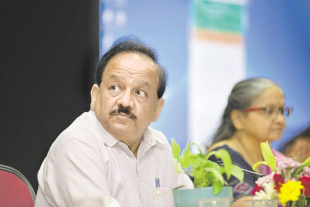 Union science and technology minister Harsh Vardhan . GM mustard, which has been developed by scientists from Delhi University, has been awaiting approval since 2015. Photo: Ramesh Pathania/Mint