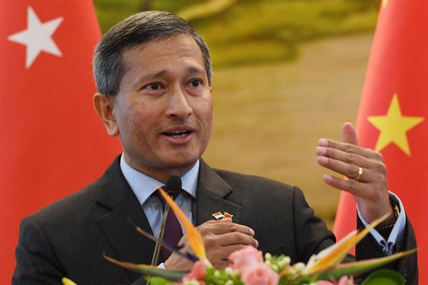 Singapore's minister for foreign affairs Vivian Balakrishnan is set to arrive in Pyongyang on Thursday. File Photo: AFP