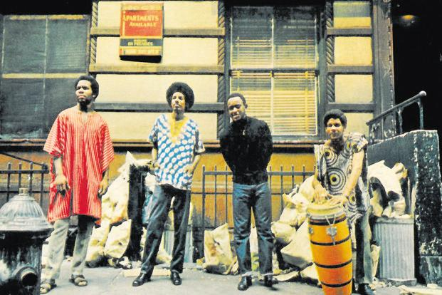 The Last Poets on the cover of their self-titled debut album in 1970.