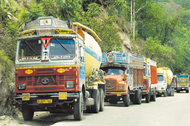 Any pressure on truck rentals for a longer duration may soften CV sales growth. Photo: Ramesh Pathania/Mint