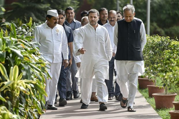 Image result for ashok gehlot rahul gandhi meeting