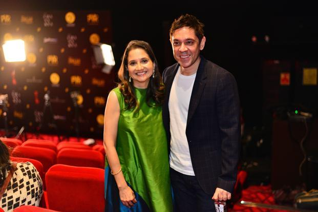 Sanjeev Bijli with Anupama Chopra. MAMI launched a year-round programme last weekend to build 'quality' cinema in Delhi with a two-day event. Photo: Pradeep Gaur/Mint