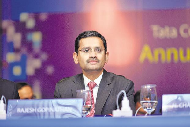 Rajesh Gopinathan, chief executive of Tata Consultancy Ltd. TCS shares closed at Rs1,824.20 apiece, up 2.43% from previous close. Photo: Aniruddha Chowdhury/Mint